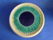 Rare Adams and Bromley Victorian Majolica 'Pineapple' Round Bread Platter c1880
